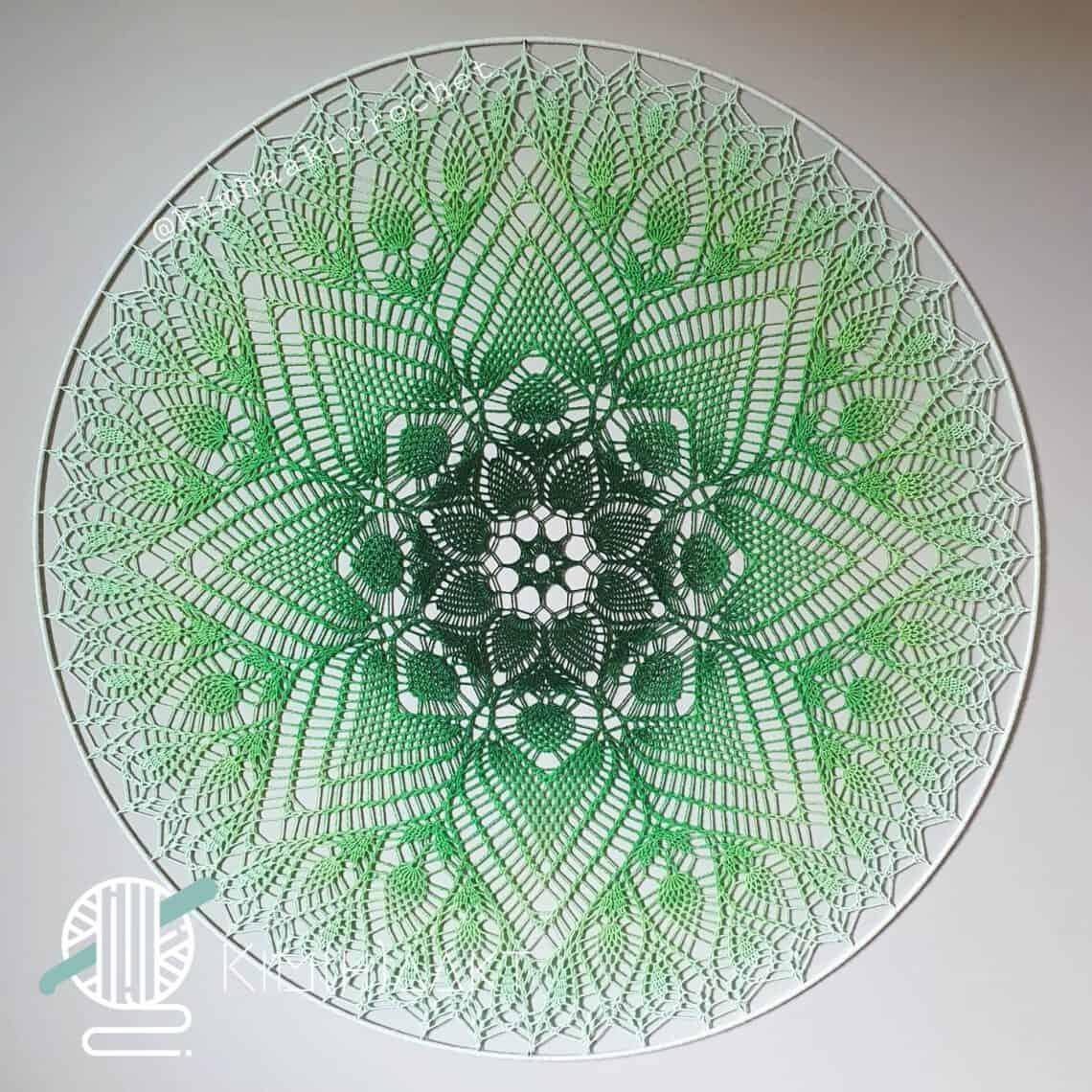 gehaakte mandala 100cm